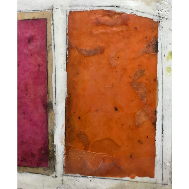 "2010s Gina Cochran ""Necessity of Play No. 6"" Encaustic Collage Painting For Sale - Image 5 of 9"