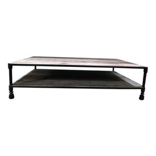 Industrial Restoration Hardware Coffee Table For Sale