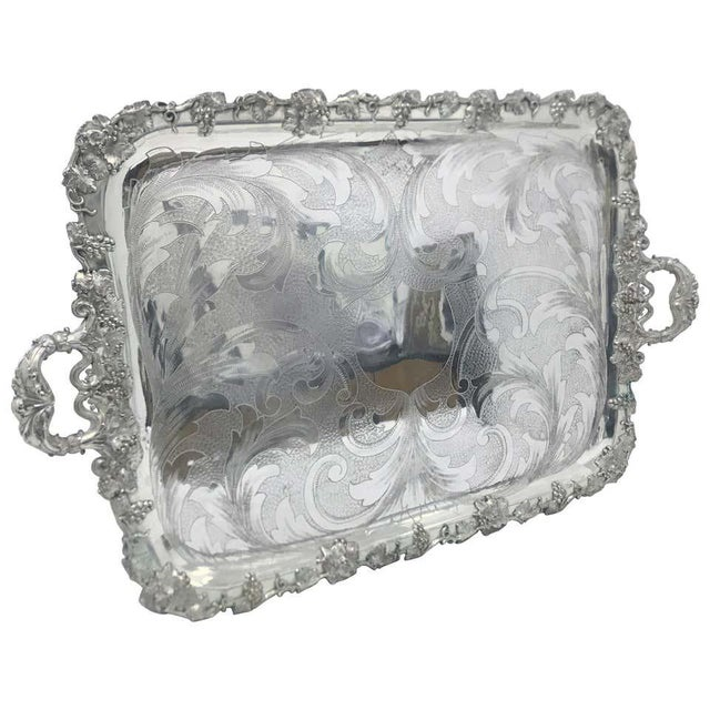 1830s Georgian Old Sheffield Plate English Tray For Sale