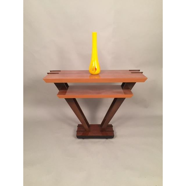 Leavitt Weaver Deco Burl Wood Console - Image 3 of 8