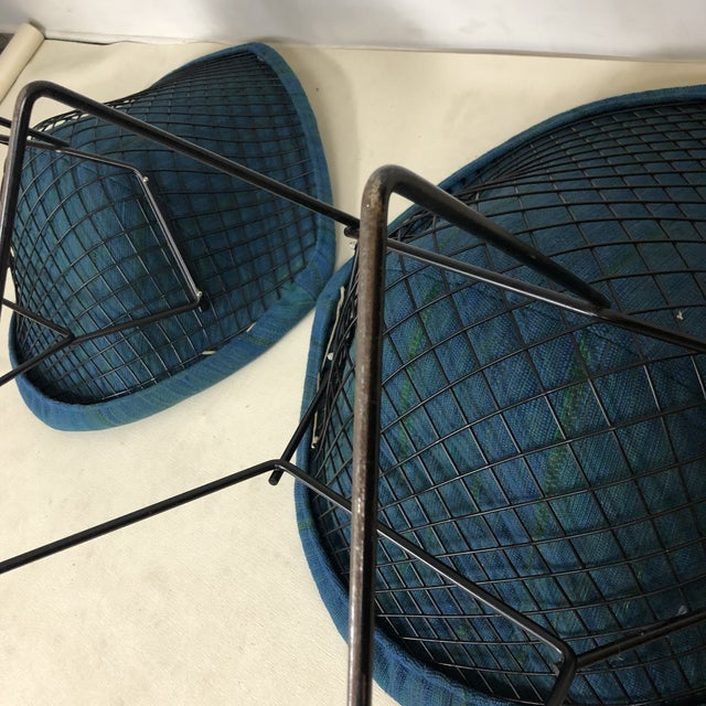 Harry Bertoia Diamond Chair for Knoll / Girard Fabric -A Pair For Sale - Image 9 of 10