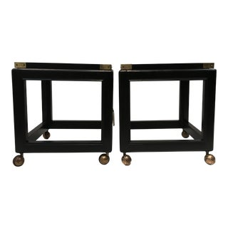 70s Regency Style Stools/ Tables, a Pair For Sale