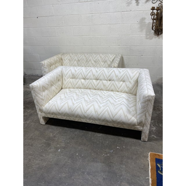 70s Contemporary Loveseats - a Pair For Sale - Image 13 of 13