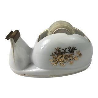 Vintage Porcelain Tape Dispenser For Sale