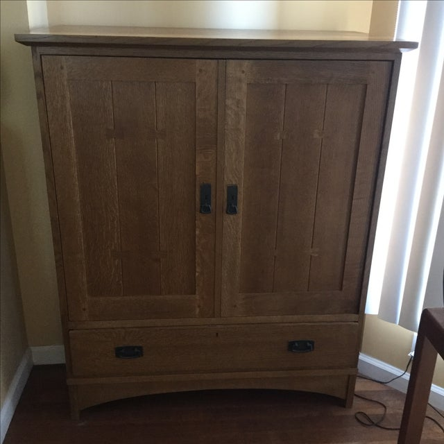 Stickley Mission Style Entertainment Armoire - Image 2 of 9