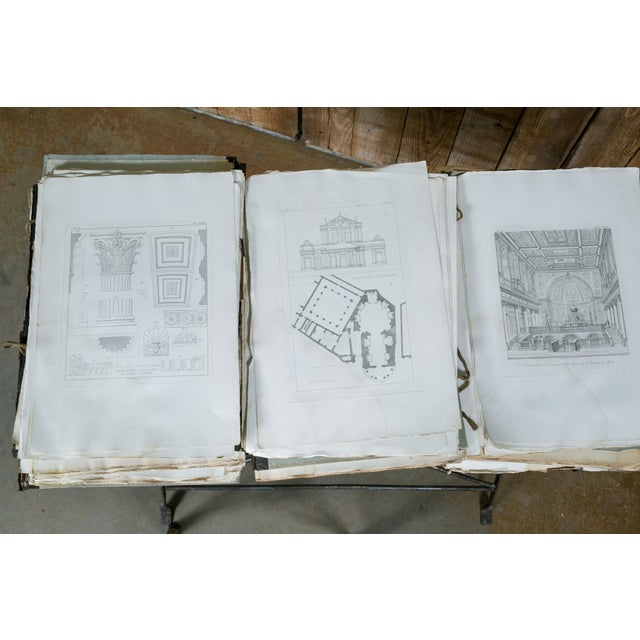 Rare 19th Century Collection of Architectural Etchings of Roman Churches For Sale - Image 10 of 11