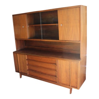 Brown Saltman Mid-Century Modern China Cabinet For Sale