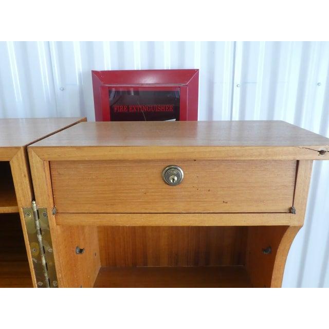 1970's Danish Modern Teak Secretary Desk For Sale - Image 9 of 11