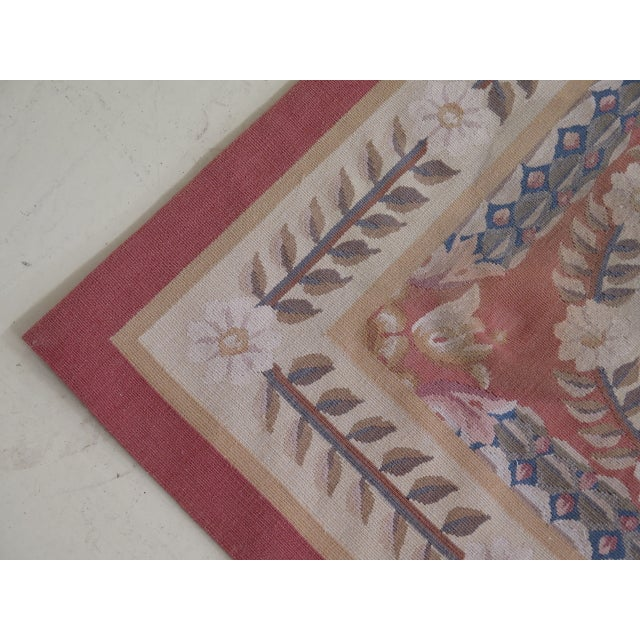 Traditional 1980s Aubusson Room Size Rug - 8' X 12' For Sale - Image 3 of 13