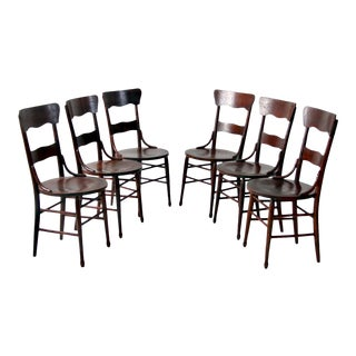 Antique Bentwood Dining Chairs - Set of 6 For Sale