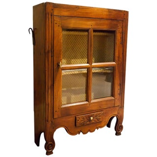 Provincial French Fruitwood Hanging or Standing Cabinet For Sale