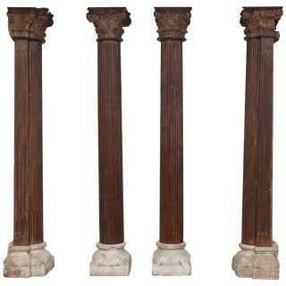 Columns For Sale >> Vintage Used Fluted Columns For Sale Chairish