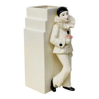 Vintage Art Deco Sigma Harlequin Clown Pierrot Vase For Sale