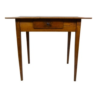 19th-Century Country French Cherry Table With Drawer For Sale