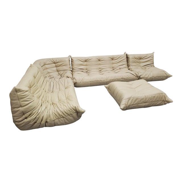 Mid Century Medern Togo Sofa Set by Michel Ducaroy for Ligne Roset - 5 Piece Set For Sale