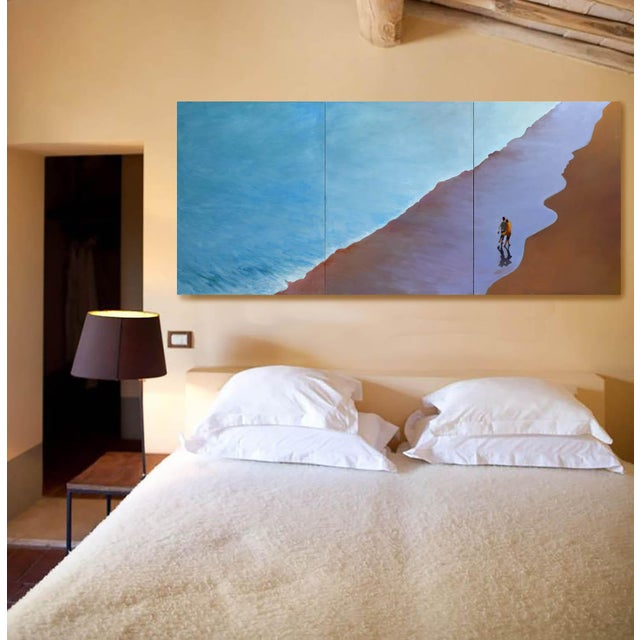 """Contemporary """"Summer Wave"""" Large Geoff Greene Painting in 3 Sections (Ready for Display) For Sale - Image 3 of 10"""