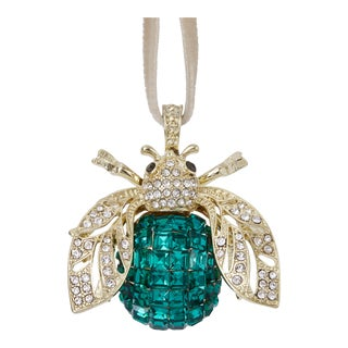 Sparkle Bee Hanging Ornament, Emerald For Sale