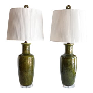Italian Ceramic Table Lamps - A Pair For Sale