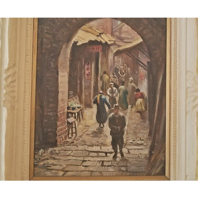 Hiyashi NoBuo Oil on Canvas - Street Arch For Sale - Image 4 of 11
