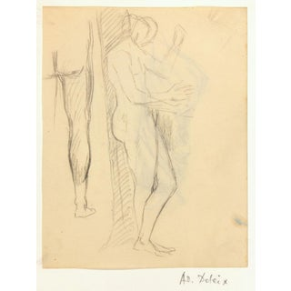 Pencil Sketch - Male Study, C. 1930, Artwork For Sale