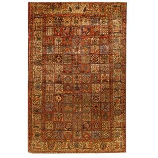 Antique Oversize Persian Bakhtiari Carpet For Sale