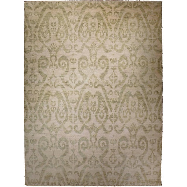 Transitional Hand-Knotted Luxury Rug - 9' x 12' - Image 1 of 3