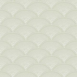 Cole & Son Feather Fan Wallpaper Roll - Old Olive For Sale