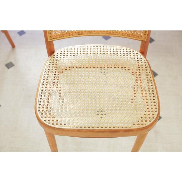 Beech Josef Hoffmann 811 Prague Chairs - A Pair For Sale - Image 7 of 8