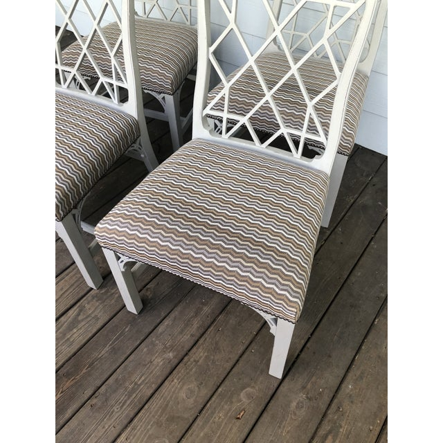 Hickory Furniture Linwood Chippendale Chairs- Set of 4 For Sale In Charleston - Image 6 of 11