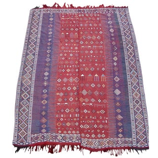 Shadda Flat-Woven Cover Rug - 7′6″ × 10′ For Sale