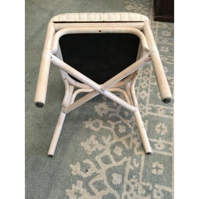 1960s Vintage Bamboo Round Dining Table and Four Chairs For Sale - Image 5 of 11