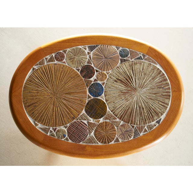 Mid-Century Modern Tue Poulsen Danish Tile Top Side Table For Sale - Image 3 of 4