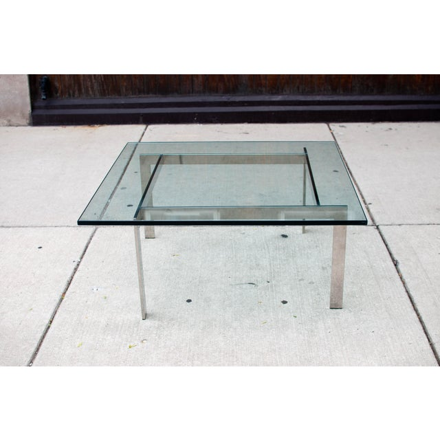 Milo Baughman Chrome & Glass Coffee Table - Image 6 of 6