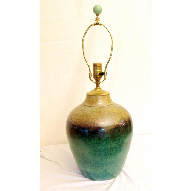 Viridian Pottery Table Lamp - Image 5 of 5