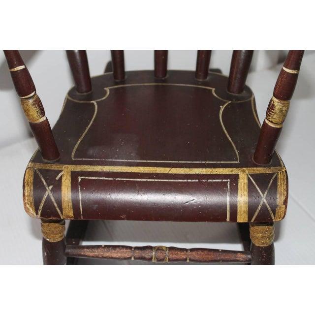 19th Century York County Pennsylvania, Original Painted Child's Rocking Chair - Image 4 of 9