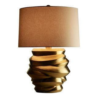 Jie Jarlet Lamp - 24K Gold Plate For Sale
