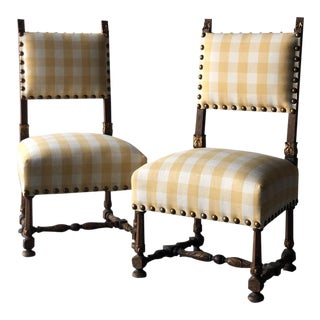 Pair of 19th Century Spanish Chairs For Sale