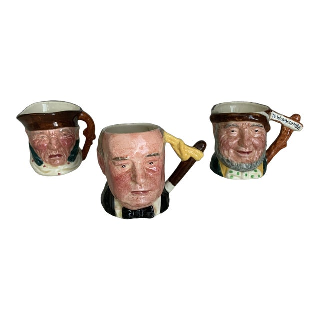 Antique Small Toby Character Jugs - Set of 3 For Sale