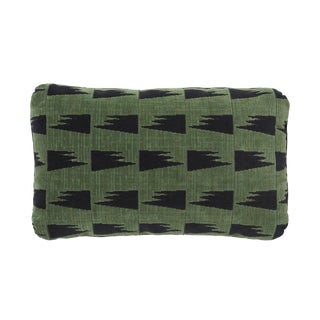 Schumacher X David Kaihoi Tutsi Pillow in Green For Sale