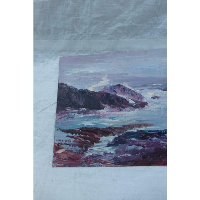 H.L. Musgrave Oil Painting, Turbulent Ocean Scene - Image 4 of 8
