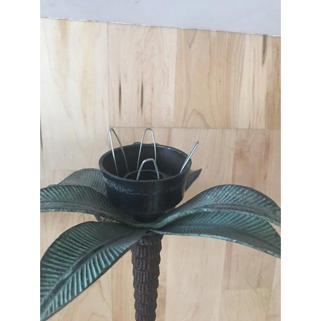 Cast Iron Palm Tree Sconces - A Pair - Image 7 of 8