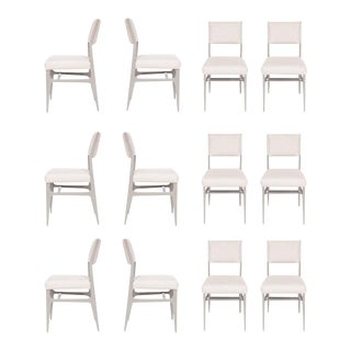 Set of 12 Maze Lacquered Dining Chairs For Sale