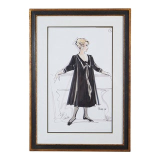 Signed Bob Mackie Fashion Drawing #2 for Rosemary Clooney from the Estate of RC For Sale
