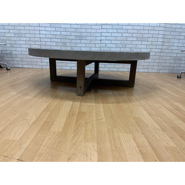 Rustic Restoration Hardware Heston Round Coffee Table For Sale - Image 3 of 8
