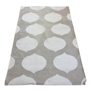 "Madeline Weinrib Gray Amagansett Rug - 3'5"" X 5'4.5"" For Sale"
