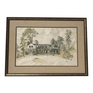 1900's Original Mulberry Paper Painting For Sale