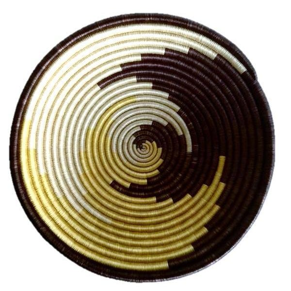 African Boho Woven Basket - Image 6 of 6