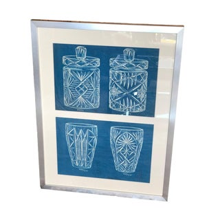 English Blue and White Waterford Proof Sheet For Sale