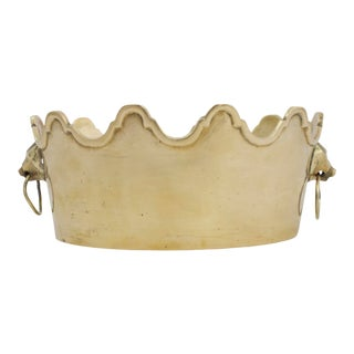Scalloped Brass Lion Catchall For Sale