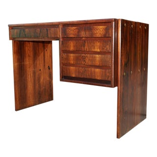 1960s Mid Century Modern Rosewood Writing Desk For Sale